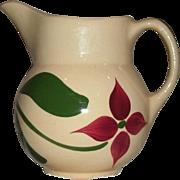 "Vintage 5 1/2"" Watt Pottery (Watt ware) Yellow Ware ""Starflower"" Pitcher / Creamer - #15 - Exc. Condition"