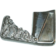 Ornate Victorian / Art Nouveau Repousse Silverplate Match Safe / Match Case with Hinged Lid