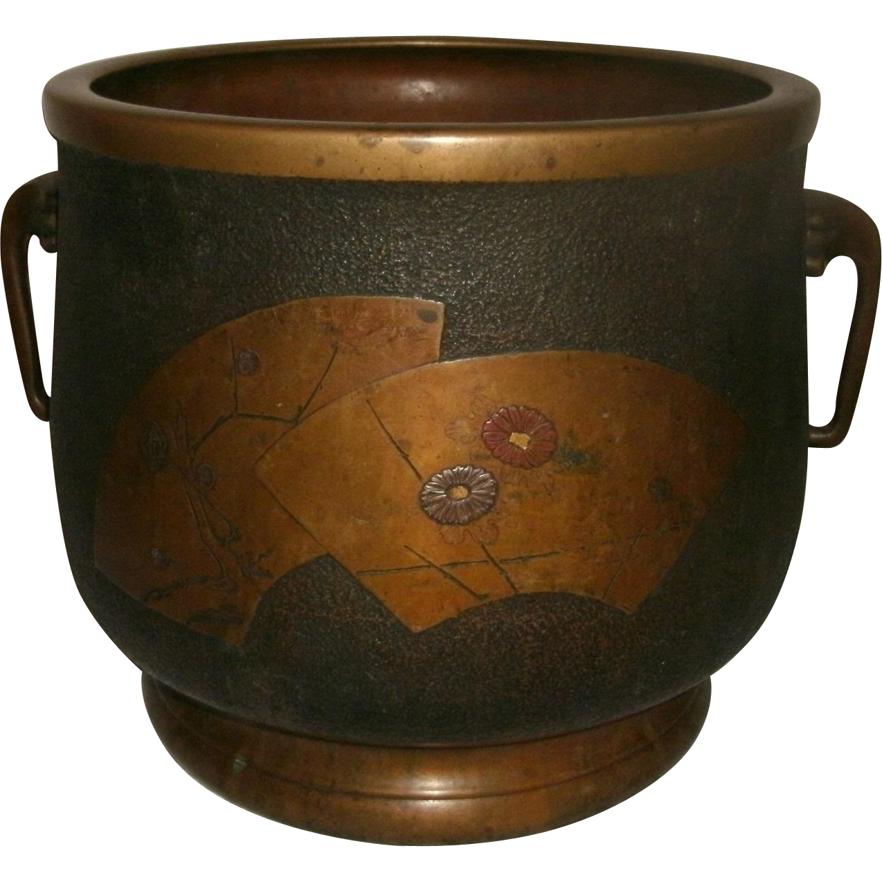 19th century japanese bronze hibachi brazier cache pot decorated from topdogantiques on ruby. Black Bedroom Furniture Sets. Home Design Ideas