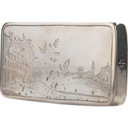 Parcel Gilt Silver Table Snuff Box By Joachim Friedrich Sebald, Germany, Ca 1800.
