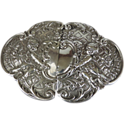 Silver Cherub Belt Buckle, Germany, Circa 1850.