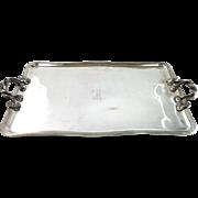 Russian Silver Plated 2 Handled Tray by Alexander Katsch, St. Petersburg, Circa 1865.