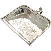 Christofle Silver Plated Crumb Scoop Scraper, France, Circa 1900.