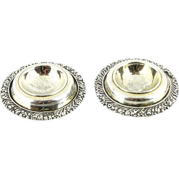 Pair Of Russian 84 Silver Open Salt Cellars, Moscow, 1847.