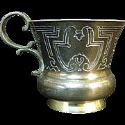 Russian 84 Silver Handled Cup / Mug, Ivan Kulakov, Moscow, 1885.