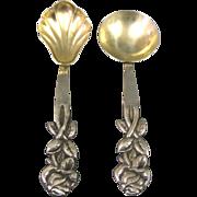 Pair Of 800 Silver Spoons Israel 1950s