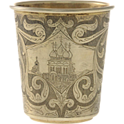 Gilt Silver Cup Beaker By Grachev Brothers, St. Petersburg, Russia, 1908-17.