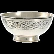 Russian 875 Silver & Niello Bowl, 1930's.