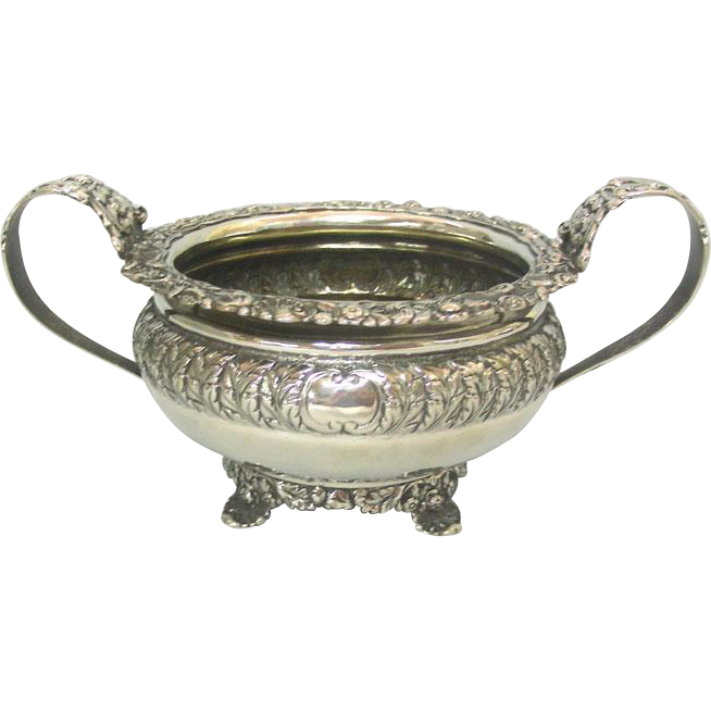 George IV Sterling Silver Sugar Basin Bowl, Rebecca Emes & Edward Barnard, London, England, 1821.