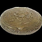 Continental Sterling Silver Snuff Box, Circa 1900.