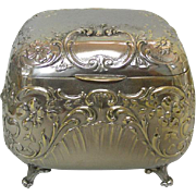 Hungarian Silver Plated Sugar / Jewelry Box Szandrik Ca 1900.