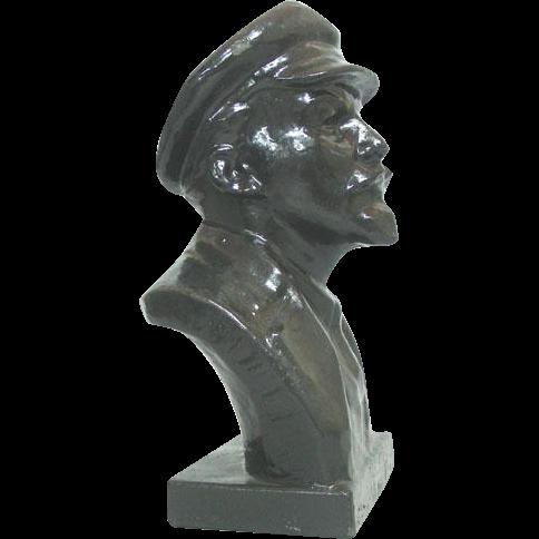 Vladimir Lenin Bronze Bust Sculpture