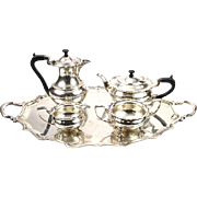 Elkington & Co Silver Plated 5pcs Tea / Coffee Set, Birmingham, England, 1937.