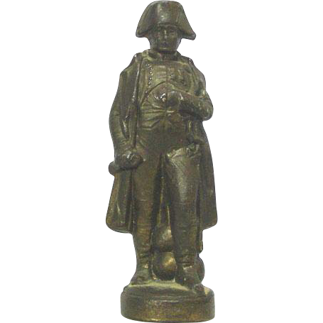 Napoleon Bonaparte Miniature Bronze Sculpture, France, Ca 1900.