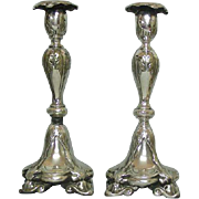 WMF Fraget Silver Plated Candlesticks, Poland, Ca 1900.