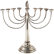 WMF Silver Plated Hanukkah Menorah, Germany, Circa 1900, Judaica.