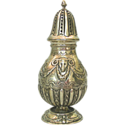 Rare Silver Sugar Caster, Nuremberg, Germany, Late 18th Century.