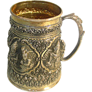 Burmese Silver Handled Cup / Mug, Ca 1920