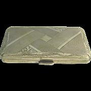 Austro-Hungarian Silver Cigarette Case Ca 1900.