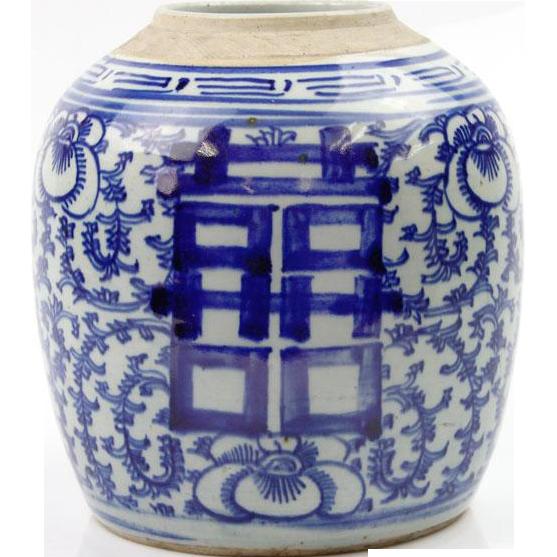 Antique Chinese Ceramic Ginger Jar China Ca 1900.