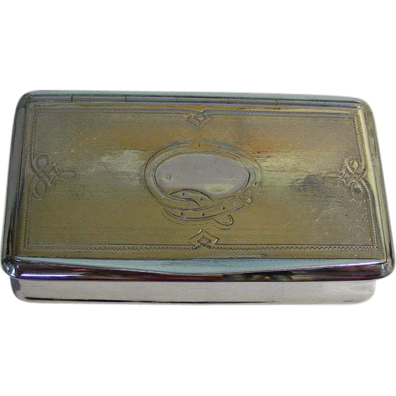 Sterling Silver Tobacco Snuff Box Claude Doutre Roussel Paris France Circa 1900