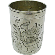 Imperial Russian Silver Cup Beaker Alderman Fyedor Petrov Moscow 1783.