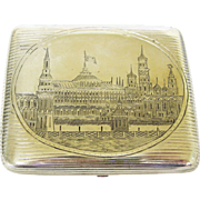 Silver Cigarette Case by Alexei Stepanov, Moscow, Russia, Circa 1890.
