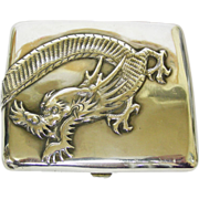 Chinese Export Silver Cigarette Case By Cumshing, China, Circa 1900.