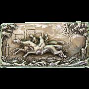 Victorian Sterling Silver Equestrian Vesta Case William Neale Chester 1895.