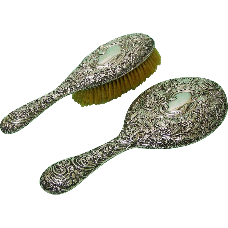 Sterling Silver Hair Brush Amp Hand Mirror Henry Matthews