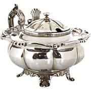 Sterling Silver Mustard Pot, Charles Lias London England 1843.