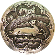 Ottoman Silver Circular Lidded Box, Turkey, Ca 1880.