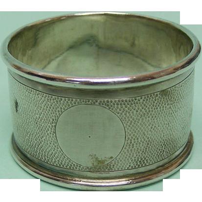 Chinese Export Silver Napkin Ring by Nanking China Circa 1900