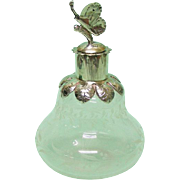 Silver Mounted Cut Glass Scent Bottle, Venice, Italy, 1970's.