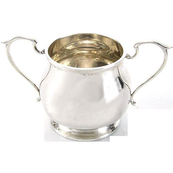Sterling Silver Two Handled Sugar Bowl, Fattorini & Sons, Birmingham, 1916.
