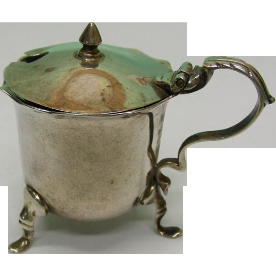 Edwardian Sterling Silver Mustard Pot Birmingham England 1907