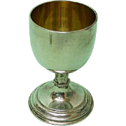 Sterling Silver Christening Cup / Goblet, A R Mowbray & Co, London, 1938.