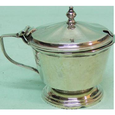 George V Sterling Silver Mustard Pot Birmingham England 1930