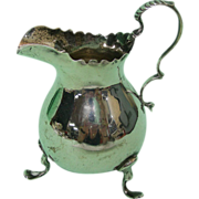 Sterling Silver Milk Jug Creamer, Nathan and Hayes, Chester, England, 1898.