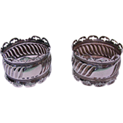 Pair Of Sterling Silver Napkin Rings Joseph Gloster Birmingham England 1897