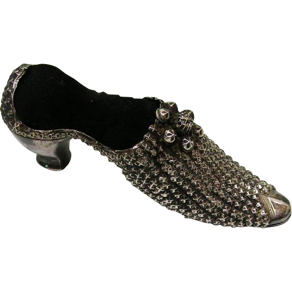 Sterling Silver High Heel Shoe Pin Cushion Adie & Lovekin Birmingham, 1903.