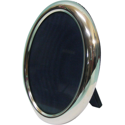 Italian Sterling Silver Oval Photo Picture Frame.