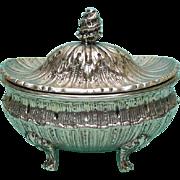 Sterling Silver Lidded Sugar Box Bowl