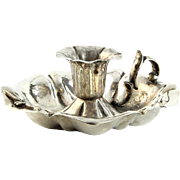 Silver Chamberstick, Vicenza, Italy, 1940's.