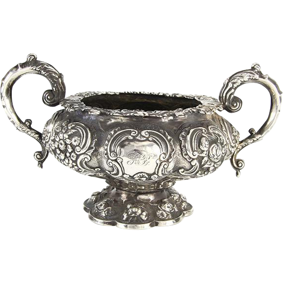William IV Sterling Silver Sugar Bowl, John Fry II, London, England, 1832.