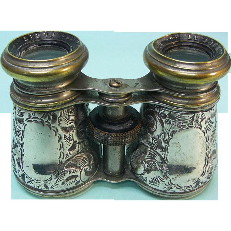 Victorian Sterling Silver Field / Opera Glasses, Birmingham, 1876.