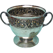 Art Nouveau Continental Silver Plated Ice Bucket / Wine Cooler / Punch Bowl, Ca 1900.