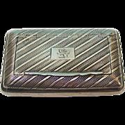 George III Sterling Silver Snuff Box By John Shaw, Birmingham, England, 1814