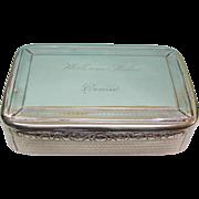 George III Scottish Sterling Silver Table Snuff Box Edinburgh, 1807.