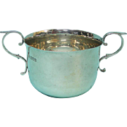 Sterling Silver Porringer By Horace Woodward, London, England, 1910